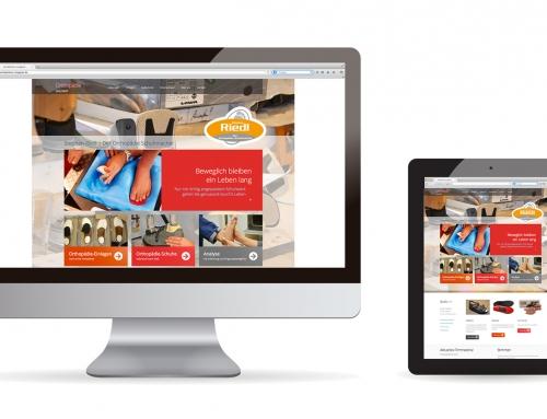 Webdesign Orthopädie Riedel