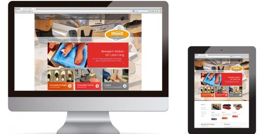 Webdesign für Riedl