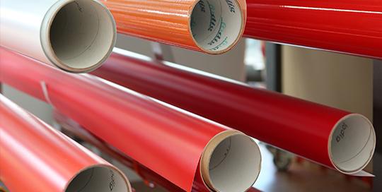 Folien für Innen- und Außenanwendung Werbetechnik Stiebler