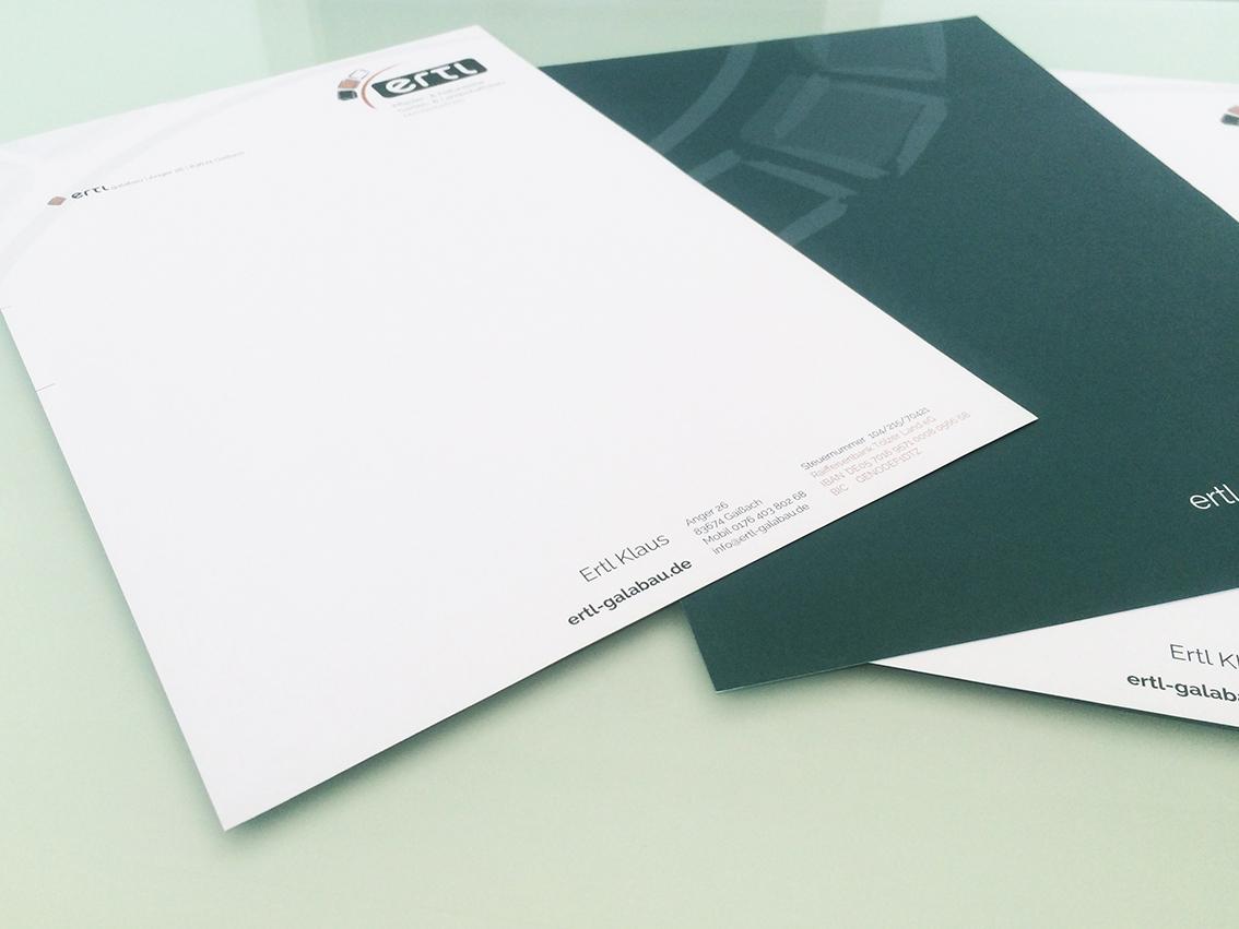 Briefpapier Druck Gestaltung