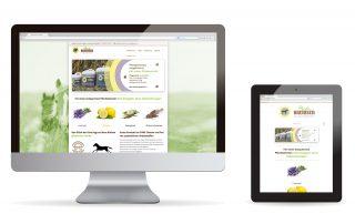 Kleine Webseite mit Onlineshop für Pferdebremsenmittel in Bad-Tölz